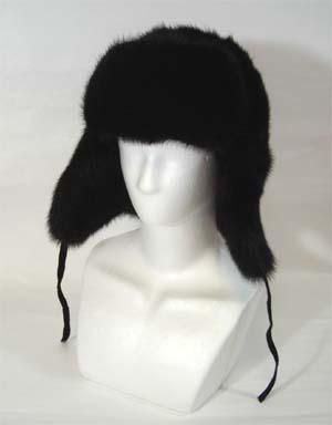 耳当てまで贅沢にミンクを使用しています fur hat 毛皮帽子 ミンクファー 耳あて付 ロシアン帽子【送料無料】
