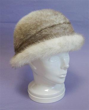 fur hat 毛皮帽子 ミンク ファー帽子 つば付き帽子【送料無料】