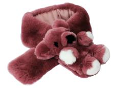 可愛いクマさんがアクセント レッキスファー ストール 5%OFF 人気 クマさんマフラー