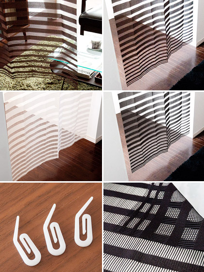 Curtain noren made washable cubicle curtain blind Nordic easy installation partition fashionable noren curtain 180 cm in modern Japan goodwill Nobleness [nobleness] Black Brown ivory curtain (noren) only for sale