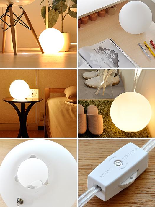【最大1,500円OFFクーポン配布中】 スタンドライト 間接照明 寝室 おしゃれ かわいい LED 対応 フロアランプ フロアスタンド フロアライト 北欧 テーブルライト ナイトライト スタンド照明 シンプル モダン 人気 照明 LED対応 おすすめ Ball Lamp20〔ボールランプ〕20cm