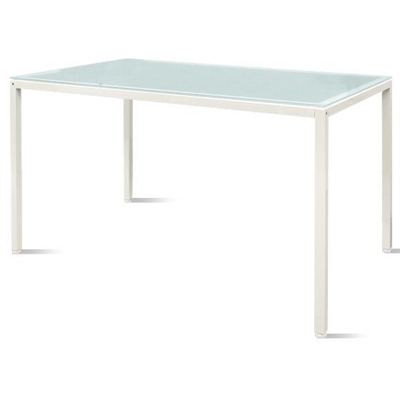 ダイニングテーブル テーブル ガラステーブル シンプル モダン ホワイト 白 おしゃれ 食卓 爽やかで圧迫感のないデザイン ガラストップダイニングテーブル ホワイト