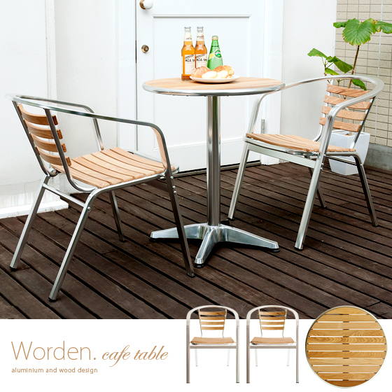 Garden Tables U0026 Chairs Three Point Set Garden Table Set Chair Chair Balcony  Terrace Aluminum Frame Stacking Indoor Out Cum For WORDEN [warden] Almog  Topped ...