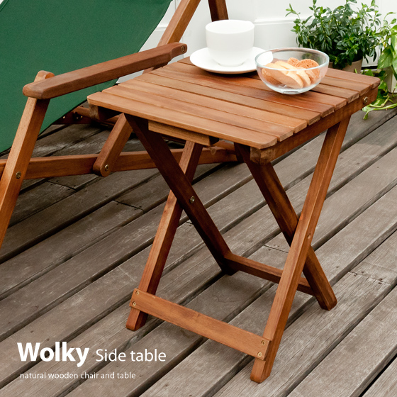 Table Folding Garden Wooden Veranda Furniture Completed Side Tables Outdoor Patio Wolky Walker