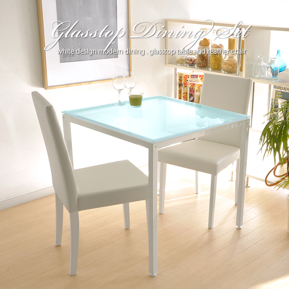 White White Shin Pull Modishness Cafe Wind Erosion Table Table Dining Table  Leather Dining Chair North Europe That Shows Cute Glass Dining Three ...