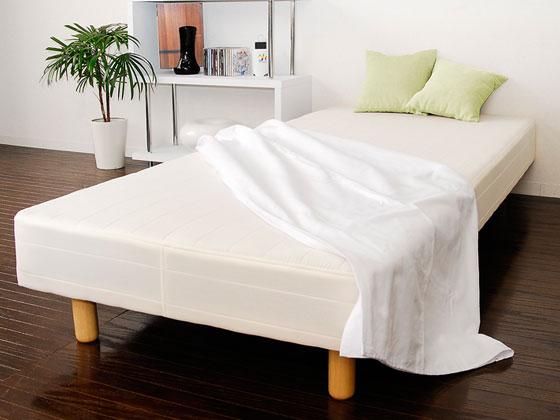 マットレスベッド セミ シングル ベッド 脚付き マットレス 脚付マットレス 脚付ベッド 脚付マット 置き易い定番人気のロングセラーマットレスベッド Farrow〔ファロー〕 セミシングル ホワイト