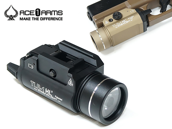 【ACE1 ARMS】TLR-1 HL LED ハンドガンウェポンライト《STREAMLIGHTタイプ》《高輝度LED搭載》 | サバゲ サバゲー サバイバルゲーム さばげー ライト LED ウエポン ウェポン ミリタリー 装備