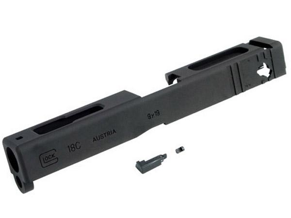 【GUARDER製 / GLOCK-38(BK)】 G18C アルミスライド A7075CNC アルミ削り出し | エアガン ハンドガン サバゲ サバゲー さばげー サバイバルゲーム ミリタリー カスタム オプション パーツ 銃 交換 おすすめ
