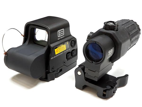 EOTechタイプ 新刻印 EXPS3 & G33 STS Magnifire セット 限定ハードケース付 BK ブラック | エアガン ホロサイト ドットサイト ダットサイト サバゲー イオテック EXPS-3 ブースター 3倍 フリップ マグニファイア 20mm レイル レール 電動ガン サイト 照準器