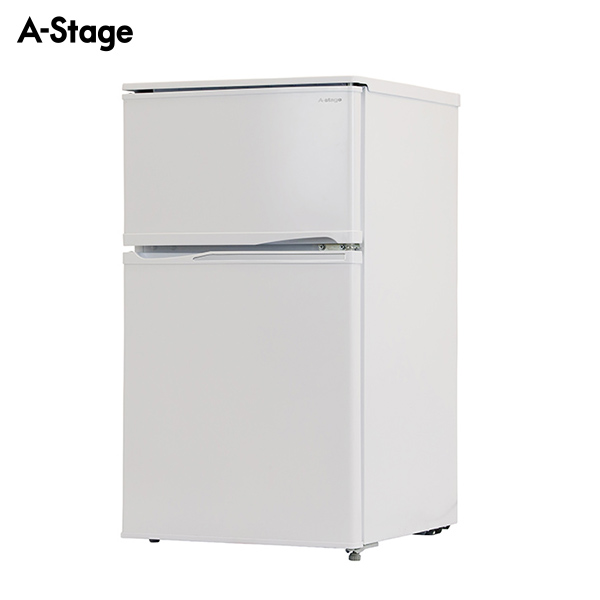 A-Stage 2ドア冷凍/冷蔵庫90L ホワイト BR-90W