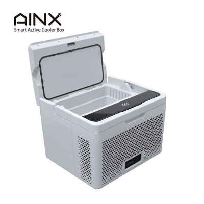 バーベキューや キャンプ にも大活躍 飲み物だけでなく食材の冷蔵 も可能 AINX アイネクス スマートアクティブクーラーボックス 10L デジタル表示パネル 釣り 国内送料無料 AX-AS10W 夏家電 ECOモード 冷蔵 大容量 正規品送料無料 冷凍 防災
