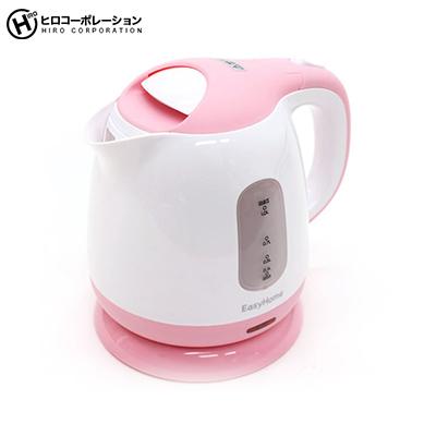 飲む時だけ タイムセール 必要な時だけ沸かすエコスタイル あす楽対応 コンパクトケトル1L セットアップ 電気ケトルKTK-300PK ピンク ギフト対応