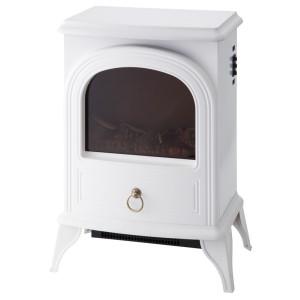 【あす楽対応】ノスタルジア 暖炉型ヒーター ホワイト CHT-1540WH 季節家電 暖房家電 インテリア アンティーク 暖炉型