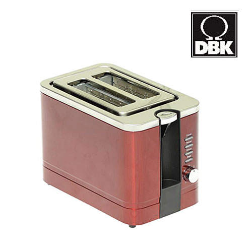 DBK(ディービーケー) ポップアップトースター ワインレッド DKT081WRA 底面よりパンくずも出せます♪ 【トースター/ポップアップ/パン焼き器/パン焼き機】