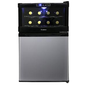 ★冷蔵庫一体型ワインクーラー★※冷蔵庫45L SCW-208S 冷蔵庫 ワインセラー【家庭用のワインセラー】【家庭用】 ワインと食材が一緒に収納できる冷蔵庫一体型。ワインボトル8本収納、冷蔵庫45L