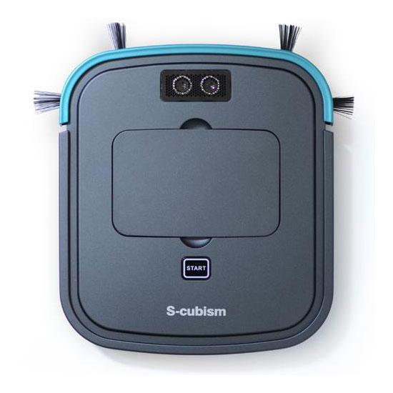 エスキュービズム 床用薄型 超薄型ロボット掃除機 ガンメタリック SCC-R05GM