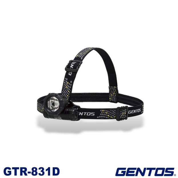 小型で軽量 店舗 コンパクトなヘッドライト 光を遠くへ飛ばすコリメータレンズを搭載 ジェントス GENTOS コンパクトヘッドライト LEDヘッドライト 災害 アウトドア 80ルーメン 即納 GTR831D ヘッドランプ ヘッドライト 小型
