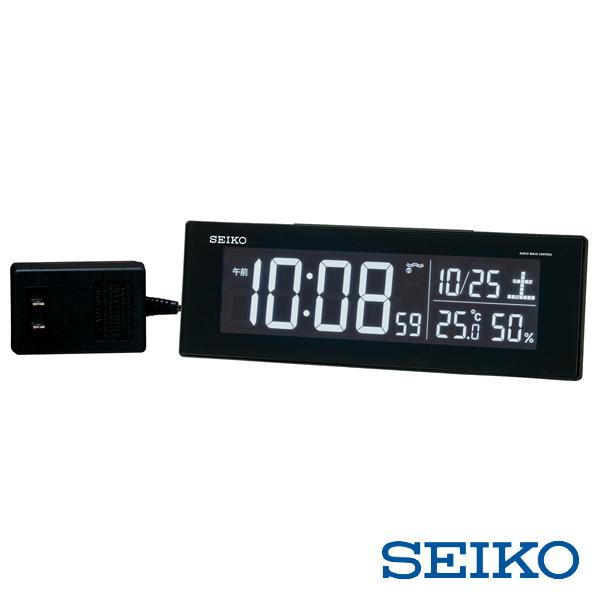 選べる70色LED液晶 表示色をお好みで設定できます セイコー SEIKO 電波デジタル目覚まし時計 DL305K 再再販 温湿度表示 掛け時計 電波時計 限定タイムセール クロック 選べる70色