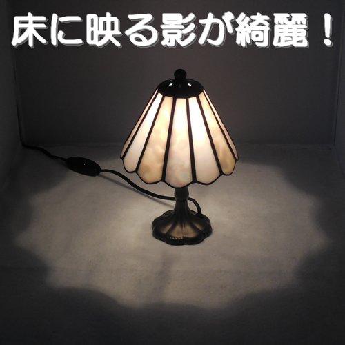 あいりんぼう 新品未使用 オリジナルデザインのランプスタンド シンプルで小さめの可愛いスタンドです ランプスタンド 12面ピンク小2 ステンドグラス 工芸 照明 ランプ 美術品 スタンド 大好評です