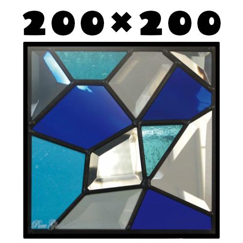 はじめて 人気 おしゃれ ステンドグラスをもっと身近に!ピュアグラス『SH-D24』(代引き不可)★ハーフミラータイプ:一部に裏面ミラー仕様のガラスを使用しています。表裏の見え方が異なります。★【材料 断熱 定番 エクステリア ステンドパネル】 窓枠 パネル 防犯