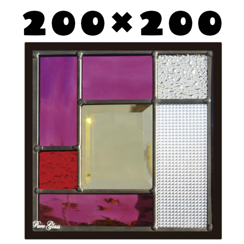 ステンドグラスをもっと身近に!ピュアグラス『SH-D37』(代引き不可)【送料無料】★ハーフミラータイプ:一部に裏面ミラー仕様のガラスを使用しています。表裏の見え方が異なります。★ パネル ステンドパネル ステンドグラスパネル