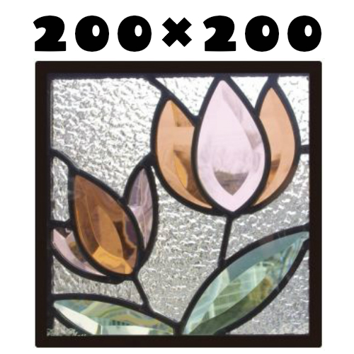 ステンドグラスをもっと身近に!ピュアグラス『SH-D38』(代引き不可)【送料無料】★ハーフミラータイプ:一部に裏面ミラー仕様のガラスを使用しています。表裏の見え方が異なります。★ パネル ステンドパネル ステンドグラスパネル