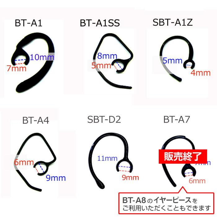 エアージェイ Bluetooth対応 イヤホンマイク のイヤーフック Bluetooth イヤーフック 耳かけ 3本セット バルク品 BT-A1 BT-A1SS BT-A4 ブルートゥース あす楽対応 マイク 希少 超人気 部品 フック イヤー BT-A6兼用 SBT-A1Z SBT-D2 イヤホン