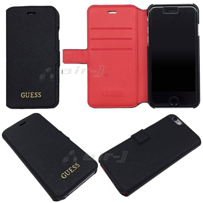 a2bd46f9f1 iPhone6siPhone6PUレザー手帳型サフィアーノ調ハードケースGUESS(ゲス)・公式ライセンス品