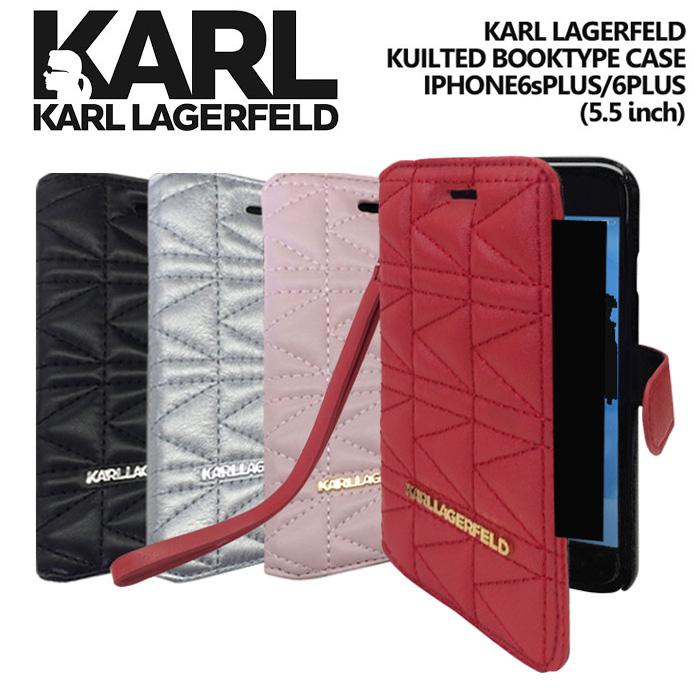 e89c324789 iphone6 Plus キルティング素材 手帳型(ブックタイプ) ケース KARL LAGERFELD(カール ラガーフェルド