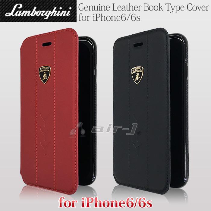 ランボルギーニ 公式ライセンス品 iPhone6s iPhone6 ケース 本革 手帳型 ブック タイプ ケース 横開き レザー アイフォン6s アイフォン6 カードホルダー バレンタイン Valentine