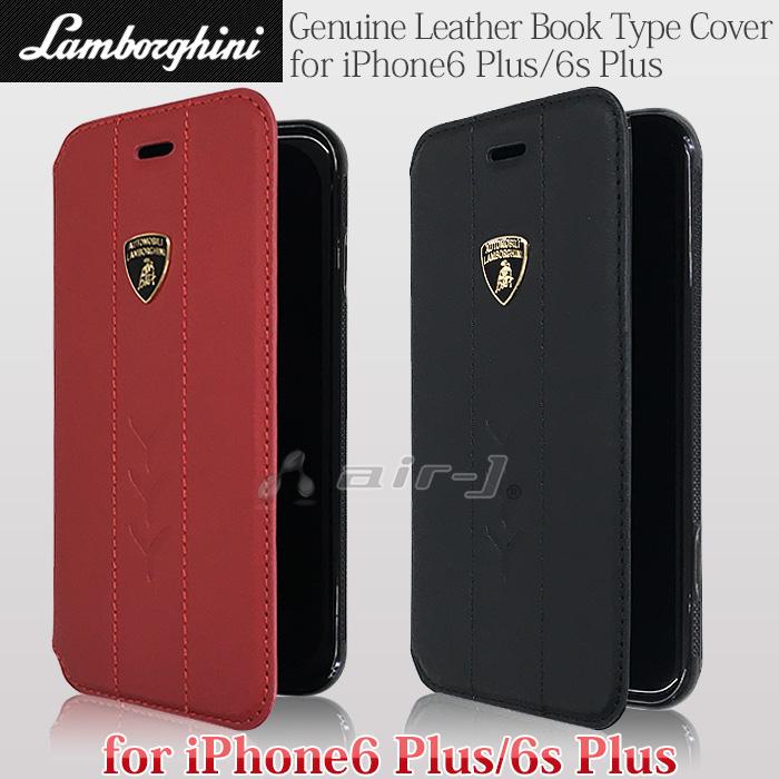 ランボルギーニ 公式ライセンス品 iPhone6 Plus iPhone6s Plus ケース 本革 手帳型 ブック タイプ ケース 横開き レザー アイフォン6s プラス アイフォン6 プラス カードホルダー バレンタイン Valentine