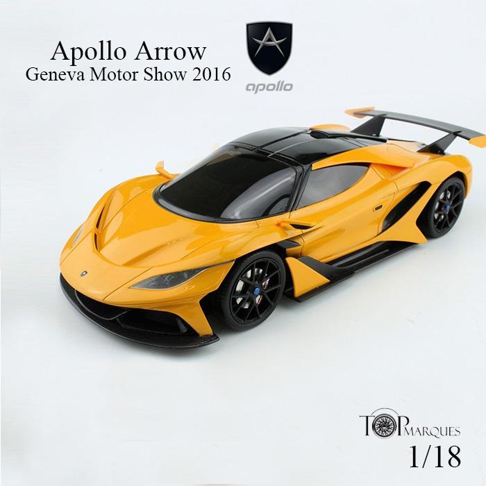 【送料無料】アポロ アロー ジュネーブ モーターショー オレンジ 1/18scale Apollo Arrow Geneva Motor Show 2016 Orange 1/18 スケール ミニカー スーパーカー トップマルケス TOPMARQUES Apollo Automobile アポロ オートモービル top047a