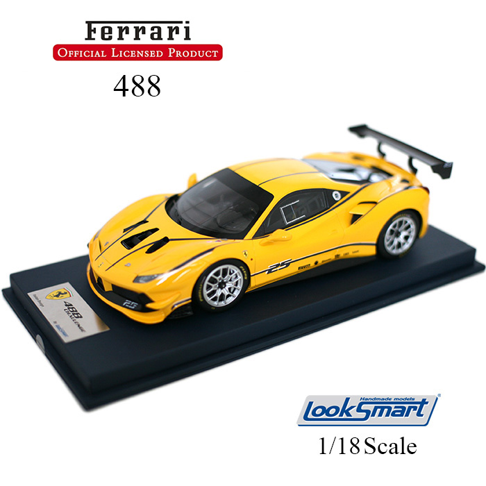 Ferrari フェラーリ Ferrari 488 Challenge GIALLO MODENA (Yellow) 1/18 スケール ミニカー モデルカー 車 クルマ 自動車 レースカー レーシングカー スポーツカー 限定モデル 限定品 イエロー 黄 人気車種 ギフト プレゼント ls18rc010a【送料無料】