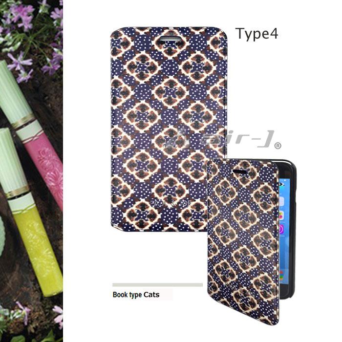 Iphone6 Plus (5.5 inch) 수첩 형 (북 타입) 케이스 PAUL & JOE (폴 앤 조)/공식 라이센스 제품 식물 꽃 고양이 고양이 여자 화장품 동물 귀여운 여자 선물