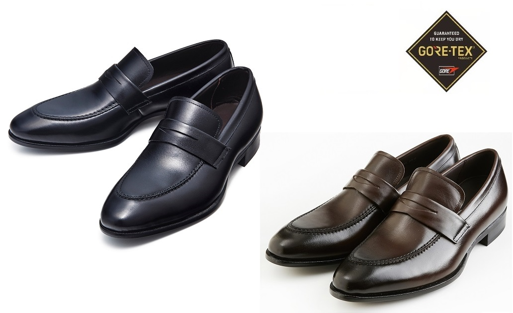 【madras Walk】M4503G【ゴアテックス/フットウェア】【防水】紳士靴 ビジネスシューズ (ブラック/ダークブラウン)3E 本革