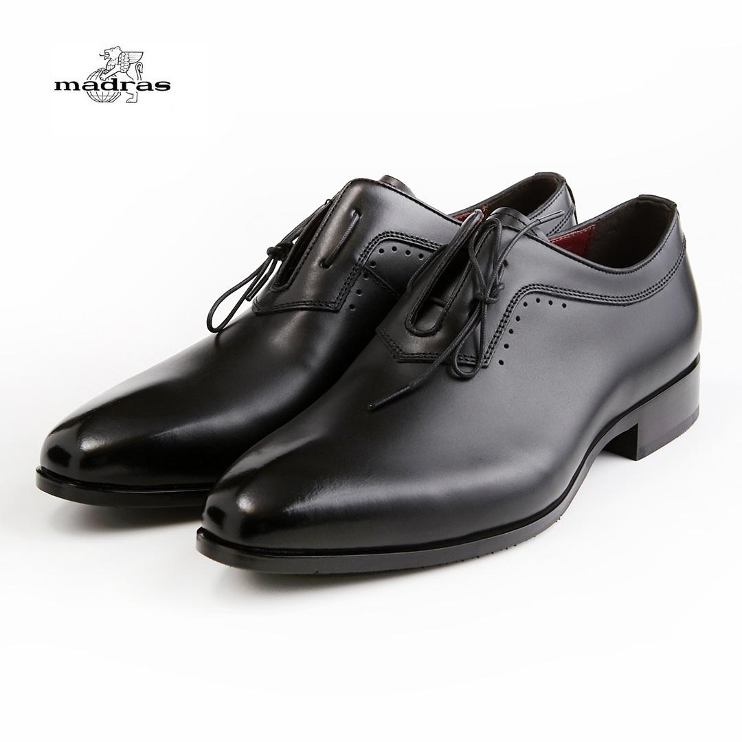 madras/マドラス 日本製/本革 3E M354 ビジネスシューズ メンズ 紳士靴(ブラック)ドレスプレーントゥ