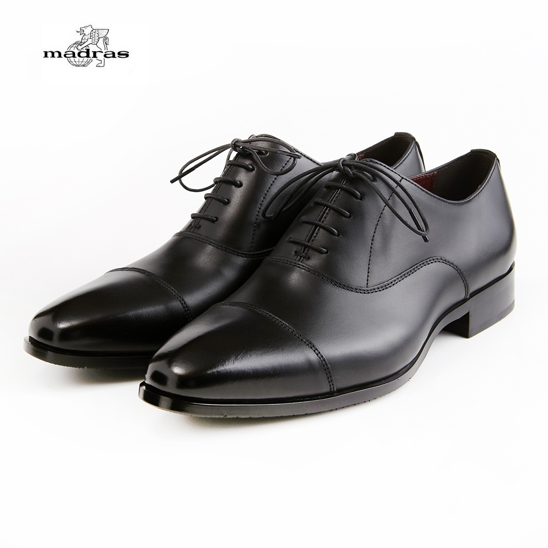 madras/マドラス 日本製/本革 3E M350 ビジネスシューズ メンズ 紳士靴(ブラック)