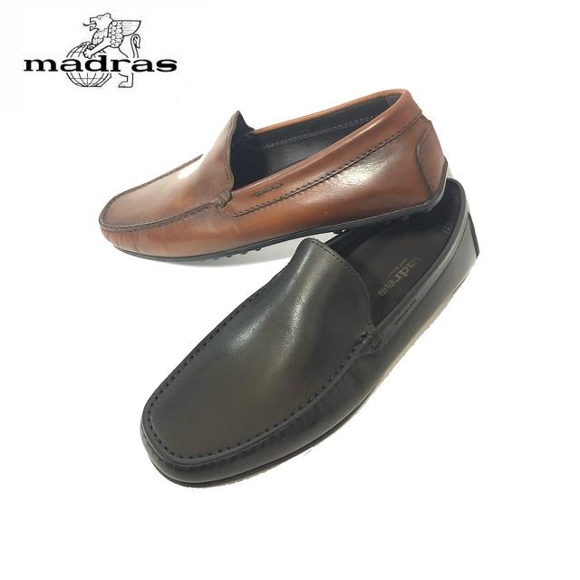 madras/マドラス 日本製/本革 M9107 ビジネスシューズ メンズ 紳士靴(ブラック/ブラウン) マッケイ製法 スリッポン