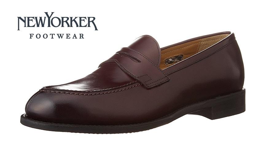 【ニューヨーカー/NEWYORKER】01NY316 (ボルドー)ローファー フォーマル メンズ ビジネス 紳士靴 牛革 3E