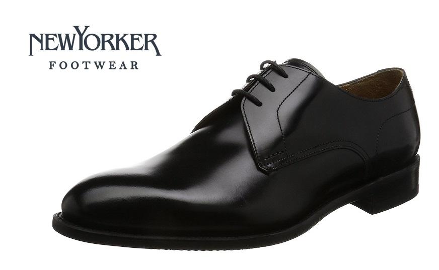 【ニューヨーカー/NEWYORKER】01NY312  (ブラック)ダービープレーン フォーマル メンズ ビジネス 紳士靴 牛革 3E