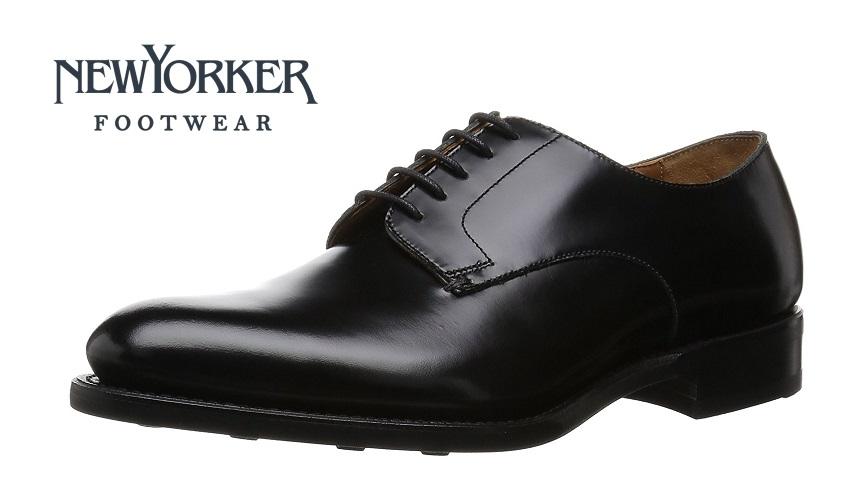 【ニューヨーカー/NEWYORKER】NY203 (ブラック)外羽根プレーントゥ フォーマル メンズ ビジネス 紳士靴 牛革 3E