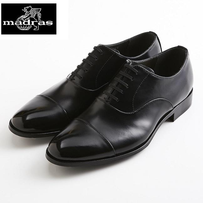 【madras/マドラス】【日本製/本革】【3E】M4401 ストレートチップ 内羽根 ビジネスシューズ メンズ 紳士靴(ブラック)