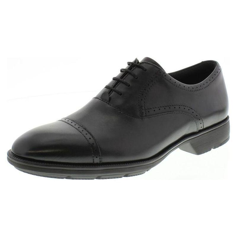 完璧なビジネスシューズとしての外観と スニーカーの履き心地が見事に両立 asics アシックス商事 texcy luxe ビジネスシューズ 紳士靴 テクシーリュクス TU7774 訳あり品送料無料 ブラック 奉呈
