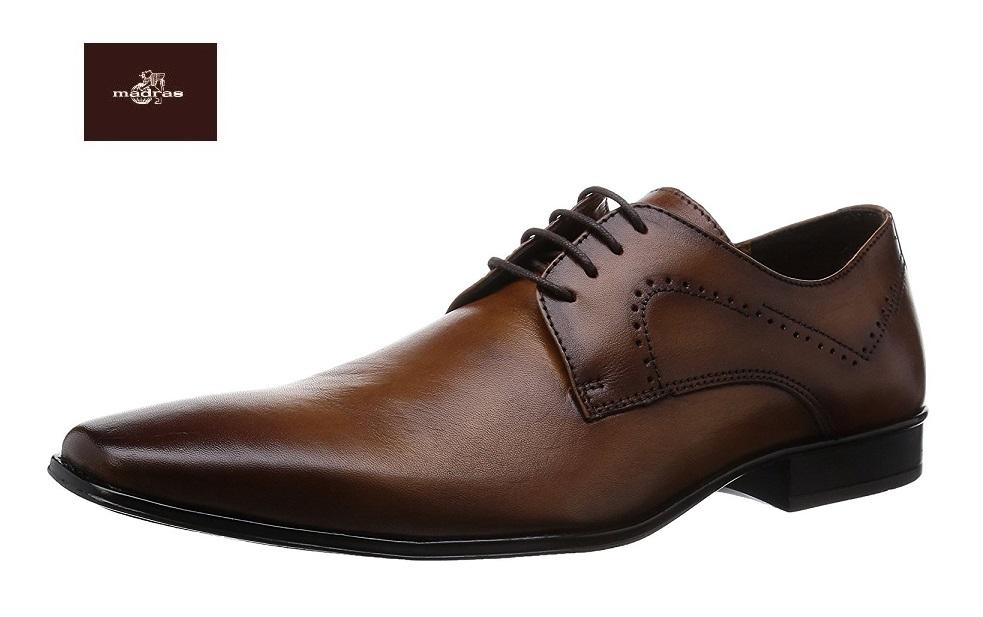 【クールビズ】【マドラス/madras】DM5010 【モデロ/モデーロ】紳士靴 ビジネスシューズ 3E(ライトブラウン)外羽根 レースアップ プレーントゥ メンズ