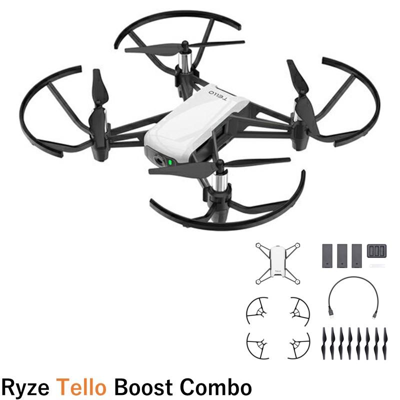 【旅Vlogキャンペーン16394】Ryze TELLO Tello Boost コンボ バッテリーや充電ハブなどがついてお得に<損害保険付> 小型 カメラ付き ドローン ン】
