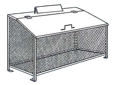 【完成品 送料無料】ゴミステーション ゴミBOX BH-120 ステンレス製NSSC FW2【生ゴミ収納BOX ワンニャンカア 大型ゴミ箱 業務用 屋外 大容量 アパート マンション 町内会 自治会 カラス 猫 対策 ごみ ゴミストッカー】