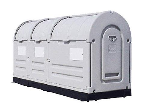 大型ゴミ箱 ステーションボックス 1100-3R(大型連結仕様)【業務用 大型 ゴミ箱 ごみステーション 屋外 大容量 アパート マンション 町内会 自治会 カラス 猫 対策 ごみ ゴミストッカー】