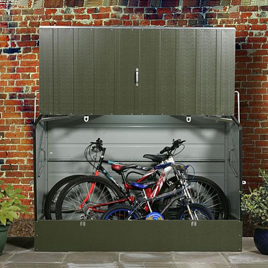 メタルシェッド 自転車倉庫 Standard Cycle【屋外 大型物置 DIY ガルバ製 ガーデニング 自転車 収納庫】