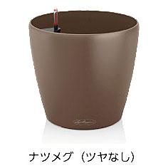 レチューザ ラウンド35 灌水セット付(カラー:ナツメグ)【輸入プランターレチューザ デザインプランターレチューザ レチューザシリーズ レチューザプランター】
