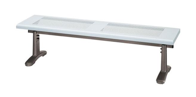 スチール製ベンチ ベンチYB-55L-ID(背なし)【業務用スチール製ベンチ 業務用ベンチ 業務用べんち 屋外用ベンチ 屋内用ベンチ 屋外・屋内兼用ベンチ】